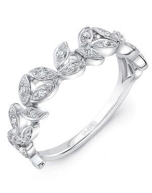 "Uneek Fine Jewelry Uneek ""Vine"" Stackable Wedding Band, 14K White Gold - LVBWA019W White Gold Wedding Ring"