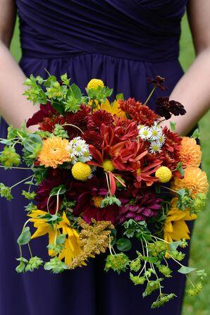 Fall-Inspired Bridesmaid Bouquet