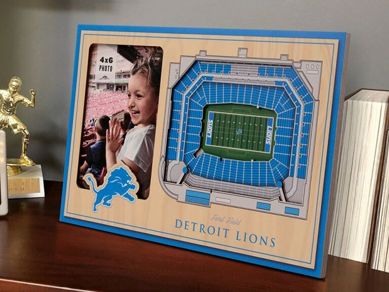Sports stadium picture frame gift for father of the groom