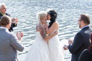 Romantic Kiss Overlooking Vermillion Lakes