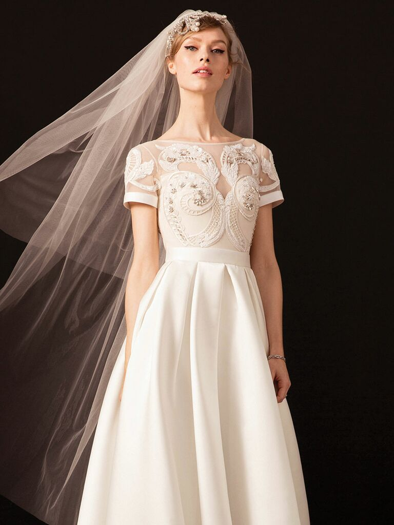 e26a79981766 Temperley London Spring 2018  Vintage-Chic Wedding Dresses With Modern Flair