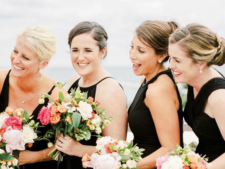 Bridesmaid updos twisted bun