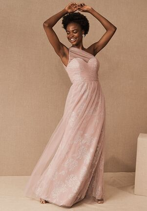 BHLDN (Bridesmaids) Phoebe Dress in Dusty Rose One Shoulder Bridesmaid Dress