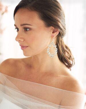 Dareth Colburn Lexie Floral Statement Earrings (JE-4189) Wedding Earring photo