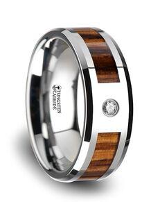 Mens Tungsten Wedding Bands W3751-ZBWI Tungsten Wedding Ring