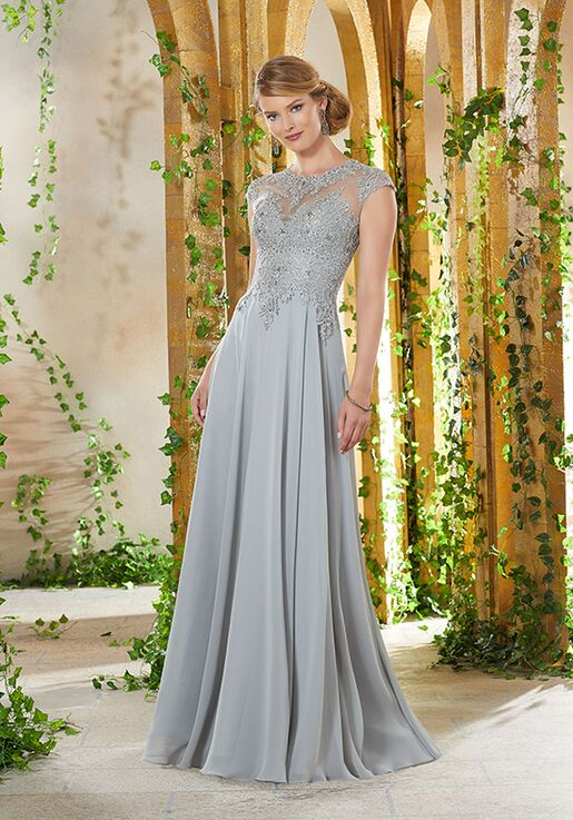 MGNY 71920 Gray Mother Of The Bride Dress