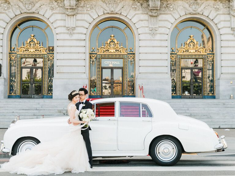 getaway car - over-the-top wedding ideas