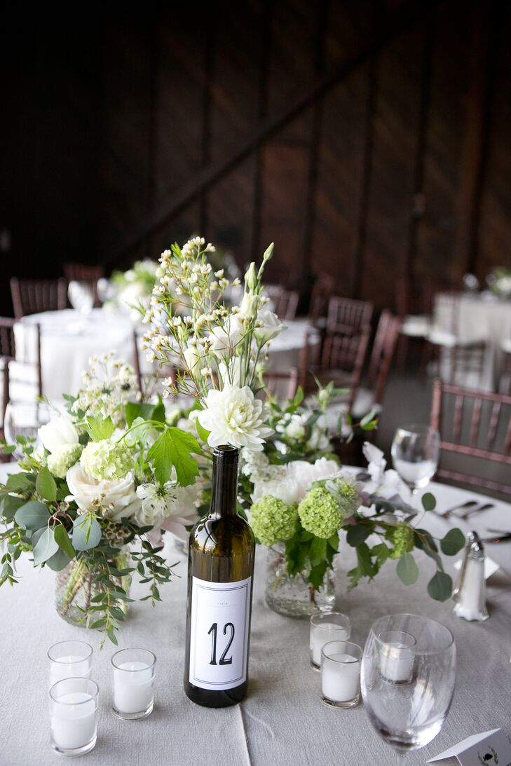 Rustic Wine Bottle Table Numbers
