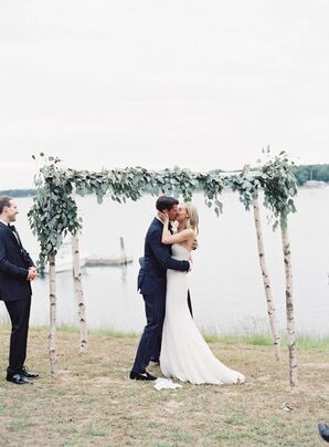 White Birch and Eucalyptus Wedding Arch