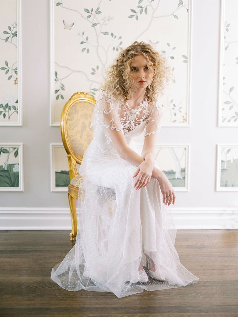 claire pettibone wedding dress illusion a-line dress