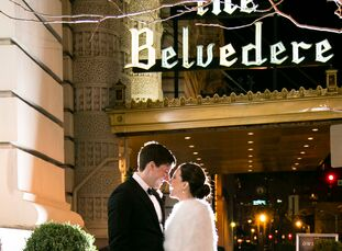 The Belvedere Hotel in Baltimore, Maryland, held special memories for high school sweethearts Katie Battista (28 and student at New York University La