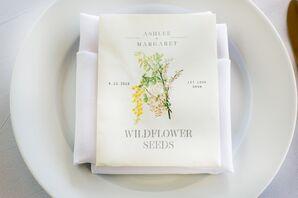 Wildflower Seeds as Favors