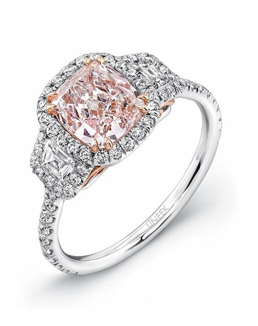 Uneek Fine Jewelry Cushion Cut Engagement Ring