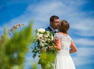 When their wedding planning began, the only request from Megan Donoghue (29 and a purchasing manager)  Andrew Arnold (32 and a sales manager) was that