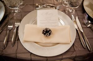 Silver Dishware and Ivory Linens