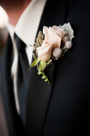 Soft Pink Rose Boutonniere