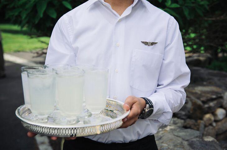 Servers with flight attendant pins
