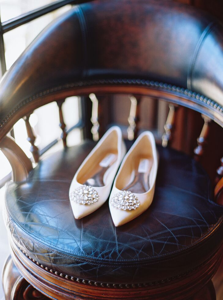 The Bride's Diamond-Studded Flats