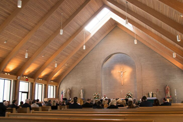 The ceremony was held at the St. Clare of Assisi Catholic Church in Clifton, Virginia, the church that Karen attended while growing up.