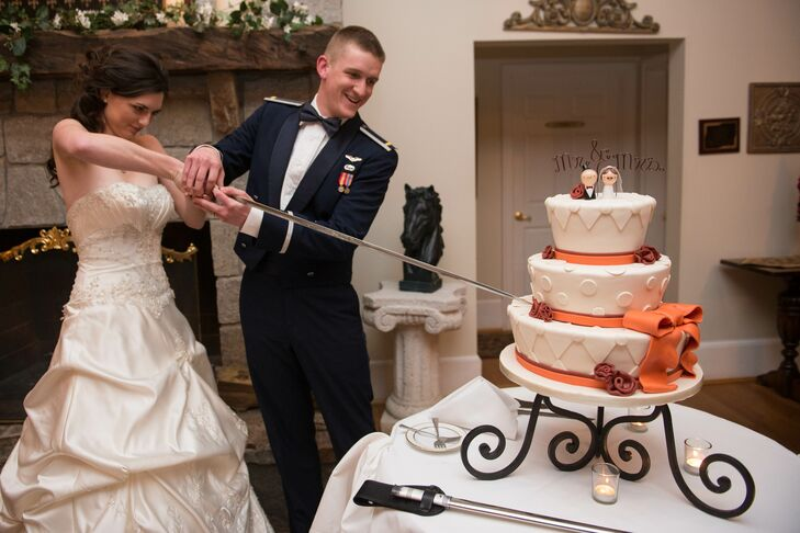 Cake Cutting with Air Force Sword