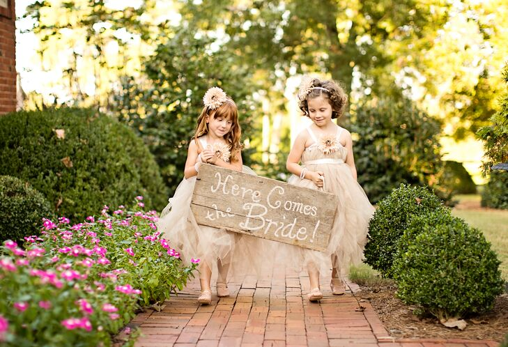 Rustic Wood Flower Girl Sign