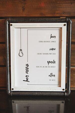 Modern Calligraphy-Inspired Bar Menu