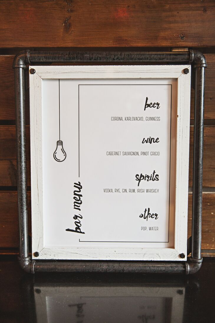 Modern Calligraphy-Inspired Bar Menu