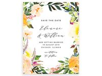 Basic Invite willow wreath save-the-date cards