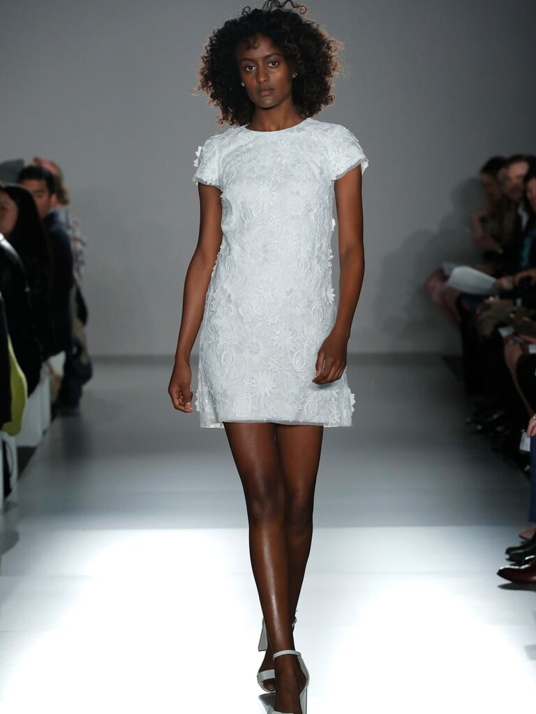 0ba23d59b8b0c Amsale Little White Dress beach wedding dress