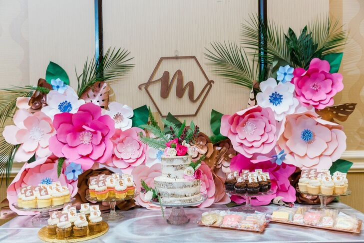 Paper Flower Dessert Display