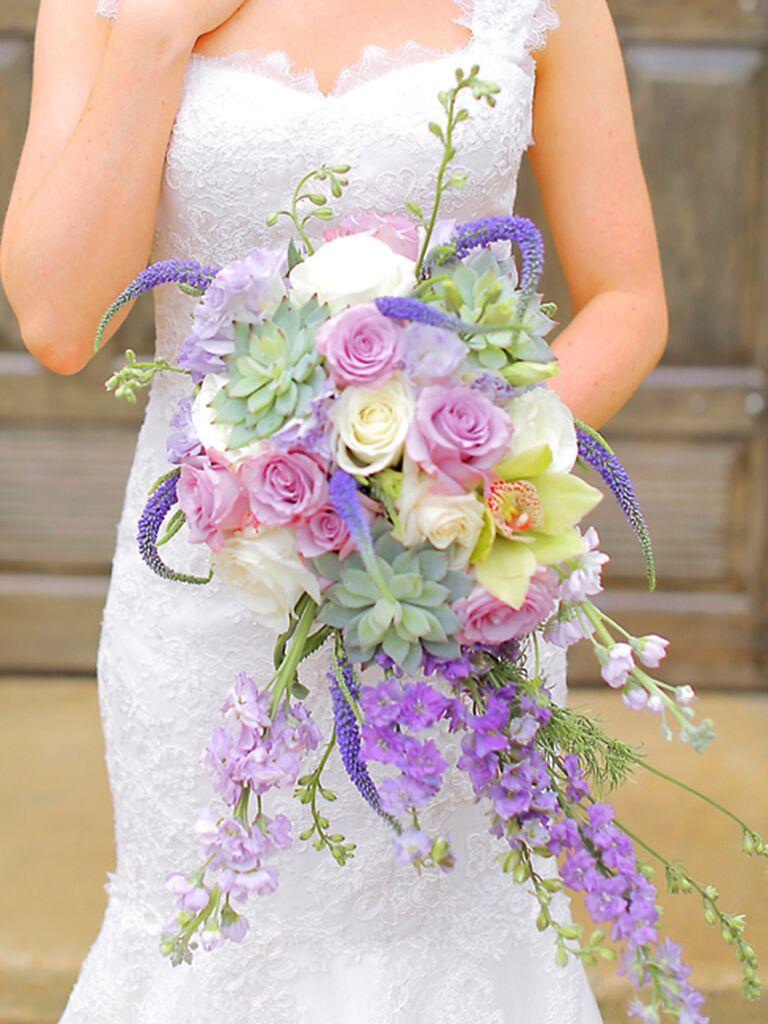 15 Whimsical Cascading Bouquet Ideas