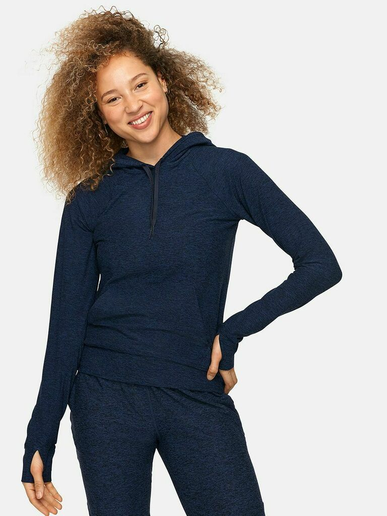 Outdoor Voices navy blue CloudKnit hoodie gift for wife