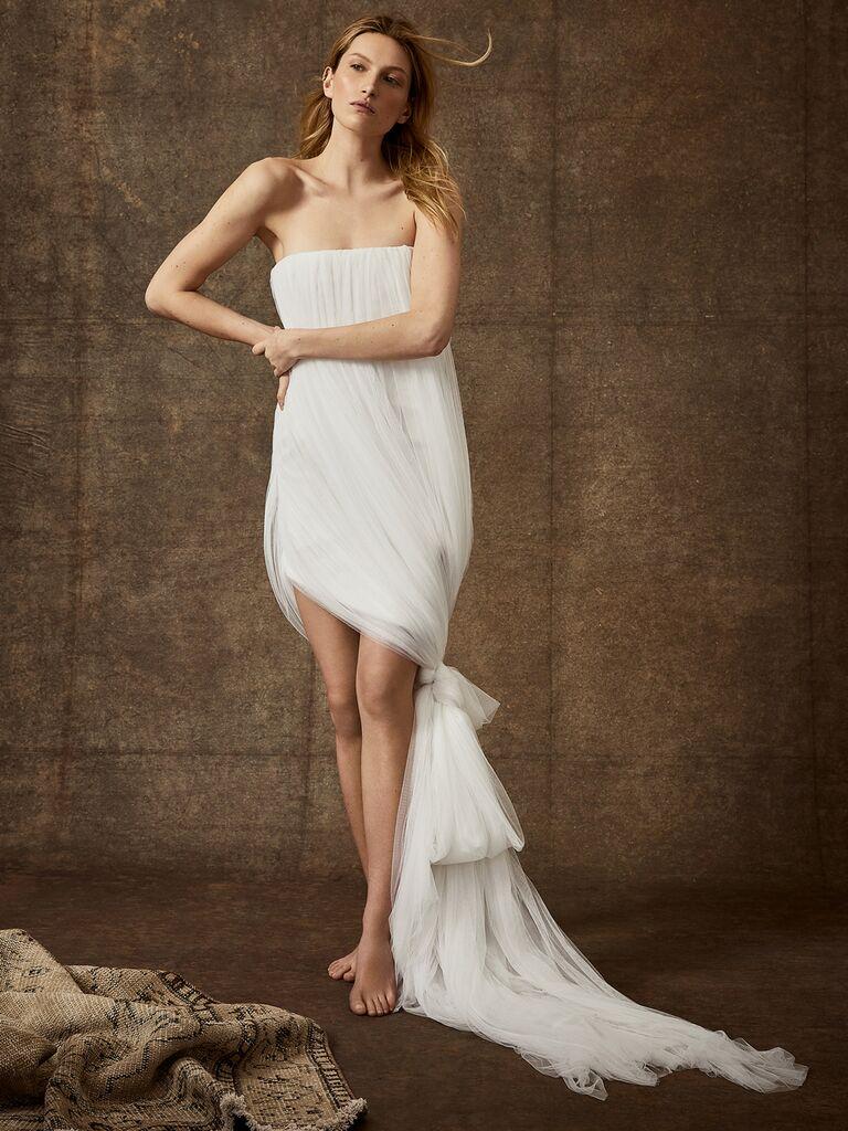 Danielle Frankel Spring 2020 Bridal Collection strapless tulle cocktail wedding dress