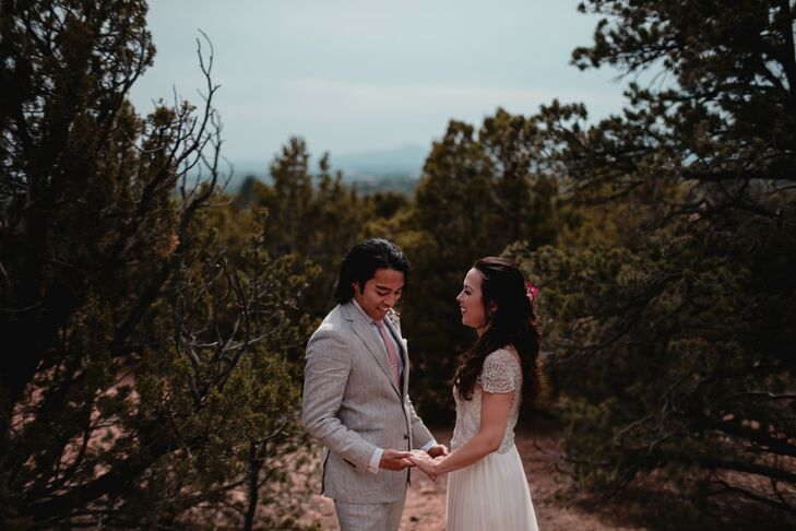 "Caitlin Clark and Phillip Hernandez lived in Washington, DC, but they headed south for a destination wedding in Santa Fe. ""I grew up in New Mexico, an"