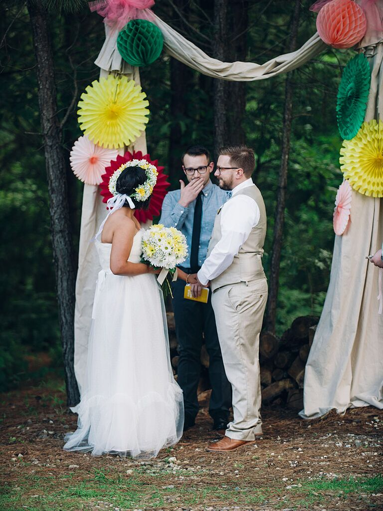 Personalized wedding ceremony with a family member officiant