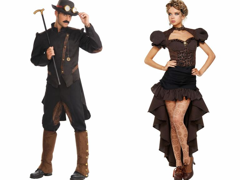 spirit halloween steampunk couples costume