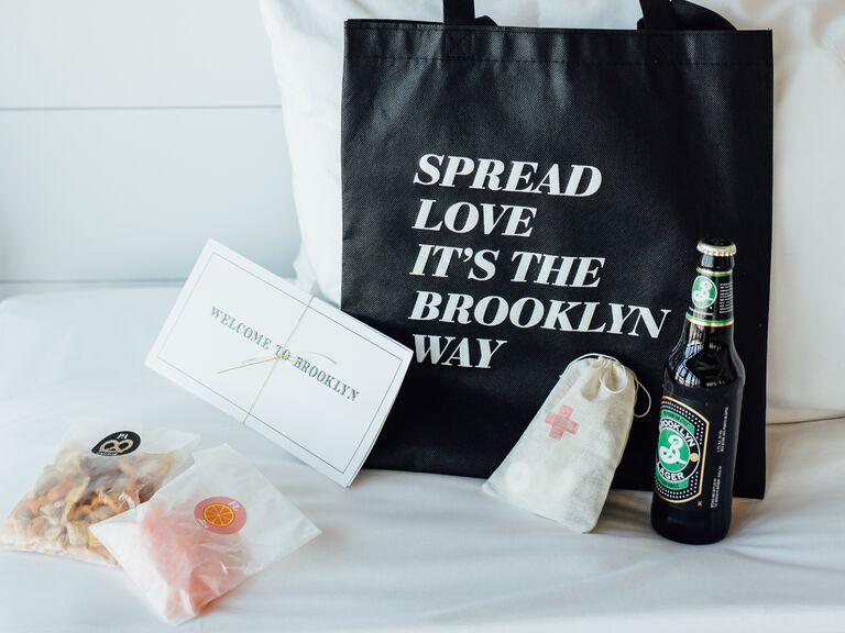 Brooklyn-themed wedding bags