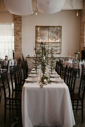 Table Décor at Wrightsville Manor Wedding Reception in North Carolina