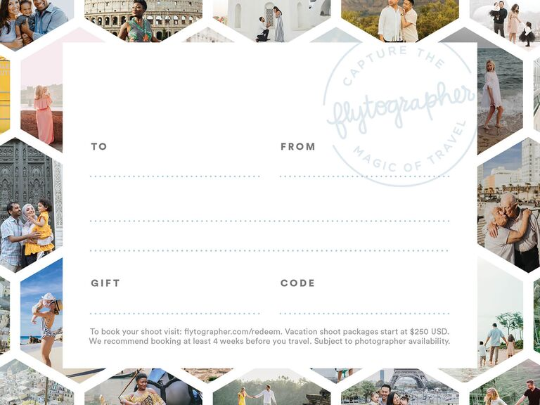 Flytographer gift card anniversary present for friends