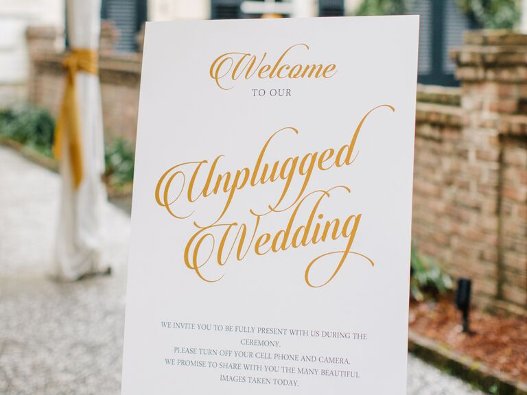 The new rules of wedding etiquette instagram wedding sign junglespirit Image collections
