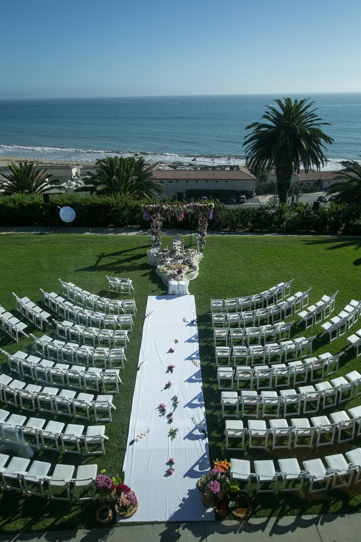 Kristy and Ali chose Bel-Air Bay Club in Los Angeles, California, for its oceanside location and its optional indoor reception space.