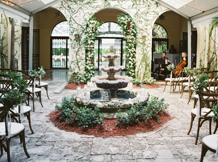 Tuscan-Style Courtyard Ceremony at Villa Woodbine