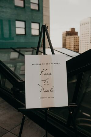 Welcome Sign for Urban Detroit Wedding
