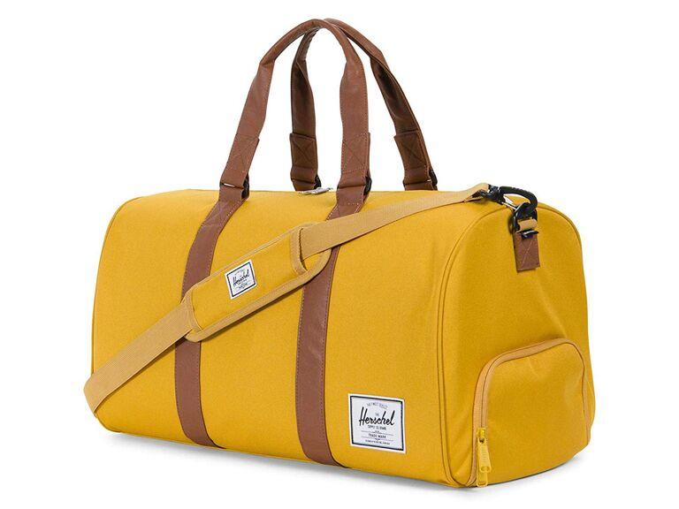 Duffle bag best man gift from groom