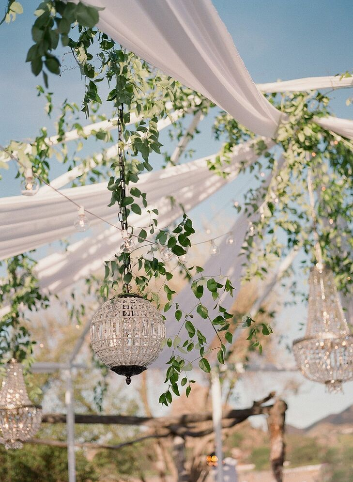 Chandeliers for Reception at Saddlerock Ranch in Malibu, California