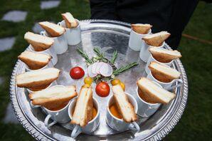 Comfort Food Hor D'Oevres for Backyard Wedding