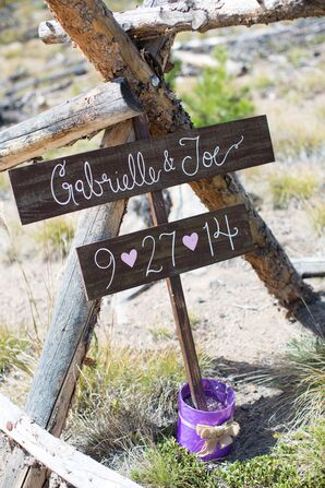 Hand-Painted Wooden Welcome Sign