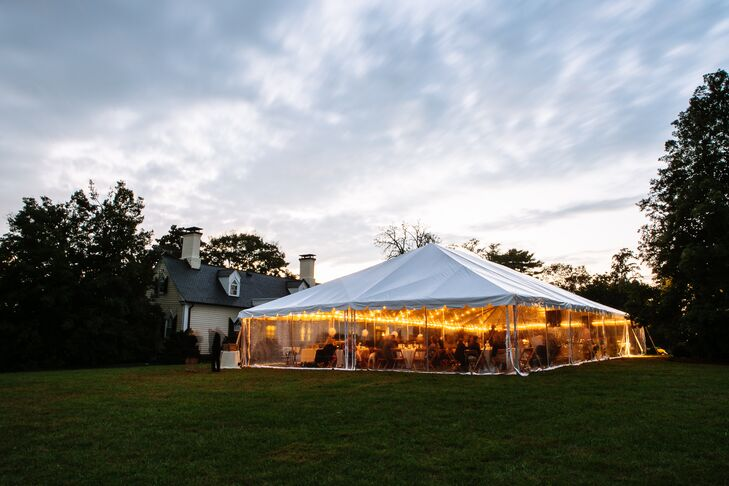 Tented Reception at Blenheim Vineyards