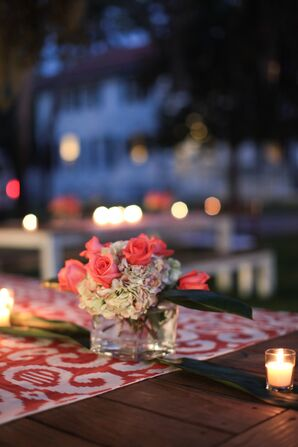 Relaxed Outdoor Reception Tablescape