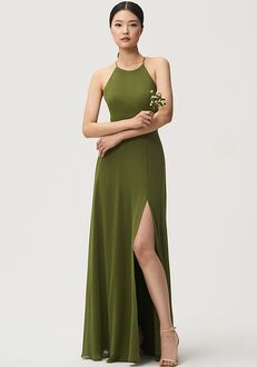 Jenny Yoo Collection (Maids) Kayla Halter Bridesmaid Dress
